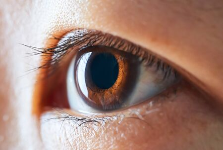 Close-up and selected focusing on a beautiful asian women eye .