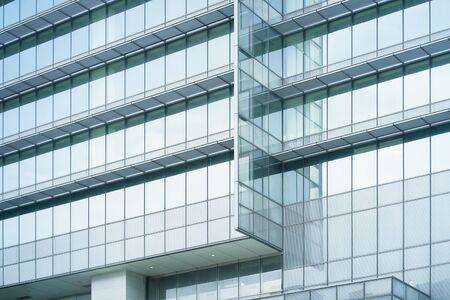 Modern and glass windows office building for background Banque d'images - 129496529