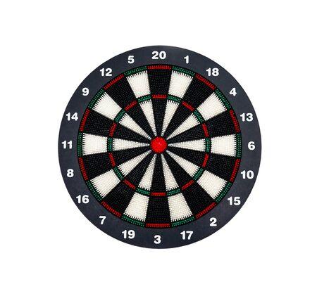 Dartboard isolated on white background . 版權商用圖片 - 135233220