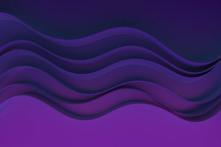 Abstract purple waves background.3d Rendering.