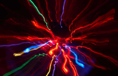 Abstract red glowing Impulse radiation and flow light background Archivio Fotografico