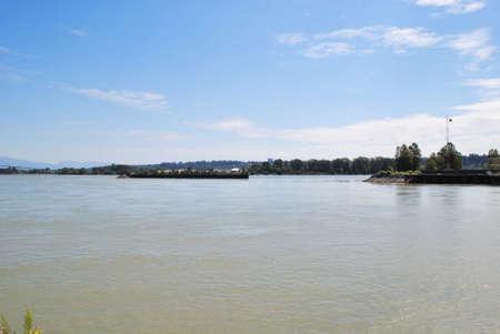 fraser: Fraser River in Summertime Stock Photo