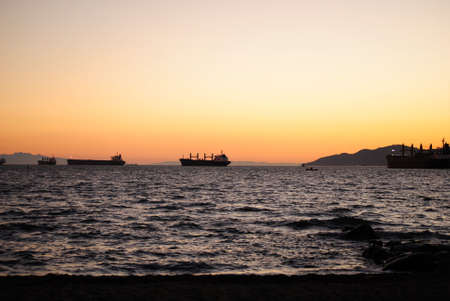 strait: Georgia Strait after Sunset