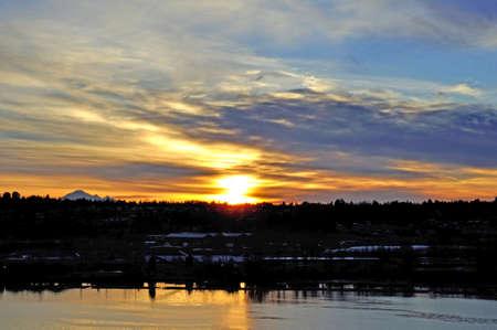 Sunrise at Fraser River