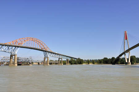 Three bridges across Fraser River photo
