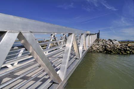 aluminium: New Built alloy aluminium bridge