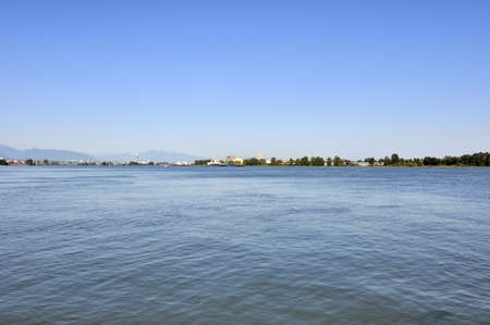 fraser: lower reach of fraser river Stock Photo