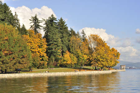 Stanley park in the autumn photo