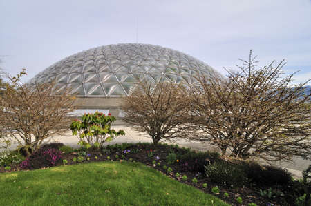 A dome building at the top of the mountain in Queen Elizabeth Park, Vancouver BC Stock Photo - 13244003