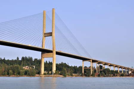fraser river: Alex Fraser Bridge Stock Photo