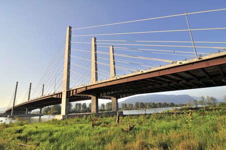 Pitt River Bridge in British Columbia photo