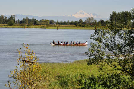People boating in a river Stock Photo - 15132590