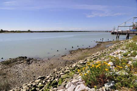 fraser: Fraser River entering the sea