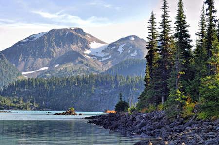 garibaldi: Garibaldi Lake surrounded with trees and mountains
