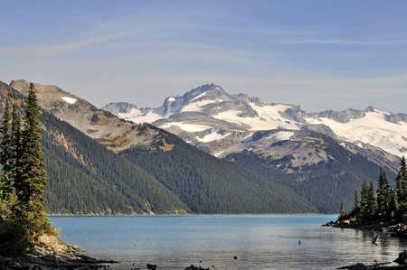 lofty mountains and beautiful lake photo