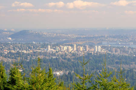 View of Metro Vancouver from top of a mountain photo