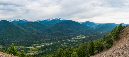 ec: Panoramic from a mountain viewpoint at EC Manning park