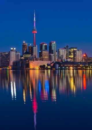 Reflection of Vibrant Toronto skyline Stock Photo