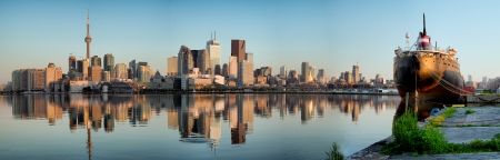 toronto: Panorama of Toronto city skyline