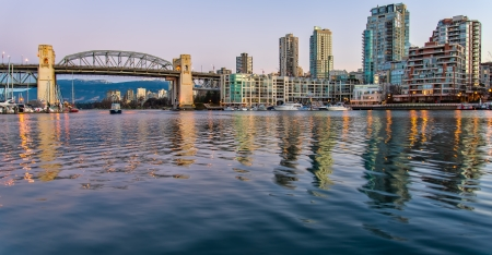vancouver island: Burrary inlet and bridge from Granville Island Editorial