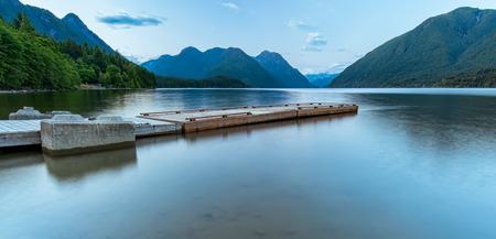 Blue Ridge Mountains: Mountains surrounding a lake with a dock
