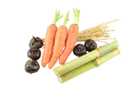 saccharum: some Saccharum sinense,carrots,Water-chestnuts and cogongrass rhizome