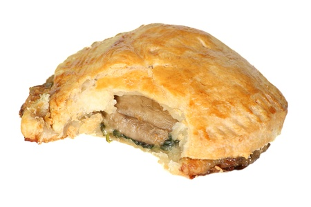 stilton: mushroom stilton and spinach in a puff pastry case