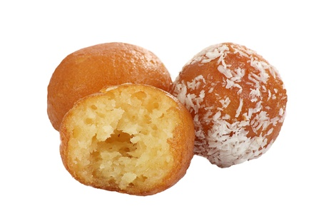 gulab: asian gulab jamun isolated on a white background