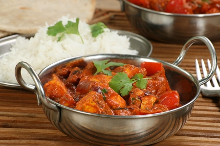 paneer: indian dish of paneer and pepper curry Stock Photo