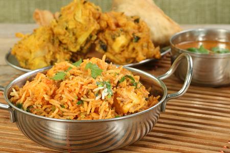 Indisches Essen Gericht panir Biryani Standard-Bild - 27567006