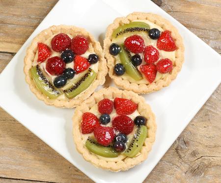 glazes: three individual glazes fruit tarts