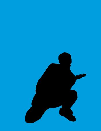 guitarist 2 - silhouette