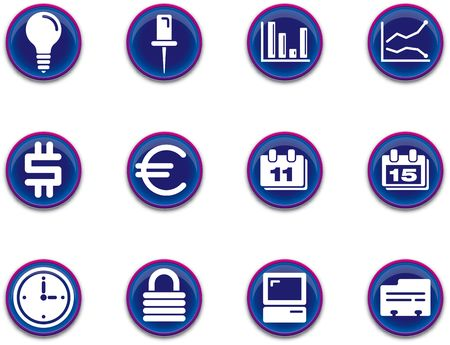 a set of business/office themed icons Stock Photo - 555476