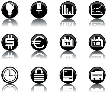 a set of business/office themed icons Zdjęcie Seryjne