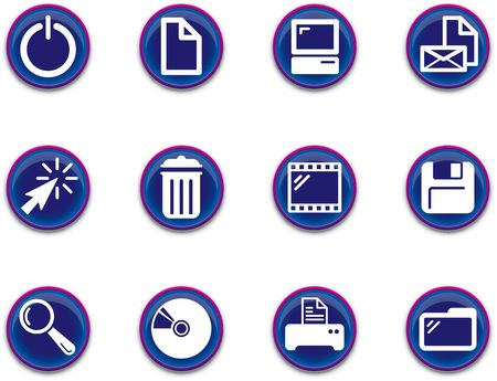 a set of computer themed icons Stok Fotoğraf
