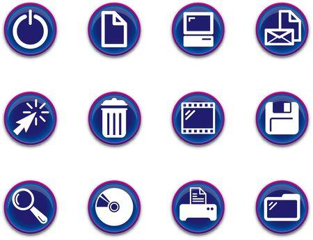 a set of computer themed icons Zdjęcie Seryjne