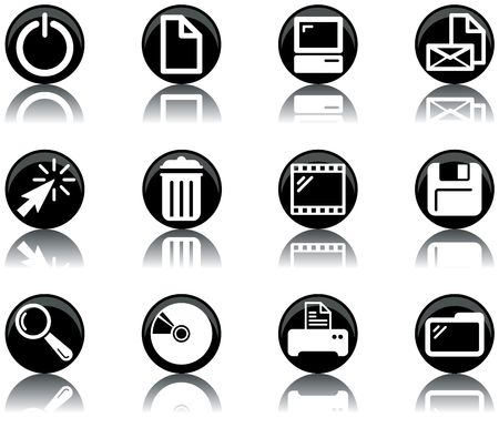 a set of computer themed icons Stock Photo