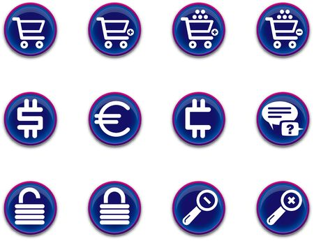 a set of ecommerce themed icons Stock Photo
