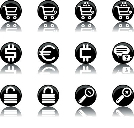 a set of ecommerce themed icons Stock Photo - 555471