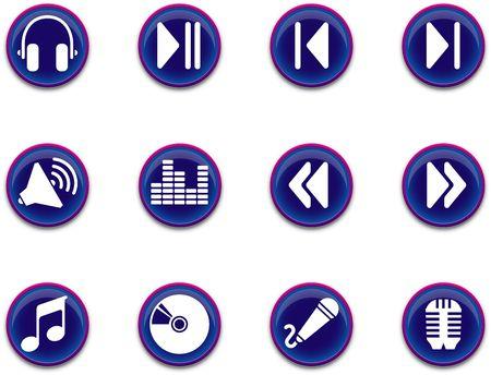 a set of musical themed icons. Zdjęcie Seryjne