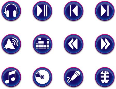 a set of musical themed icons. Stock Photo