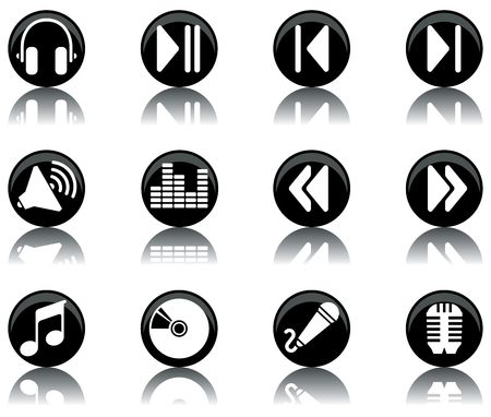 a set of musical themed icons