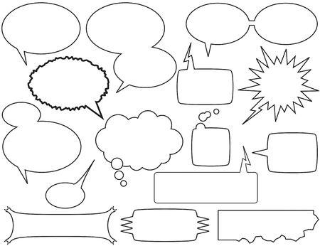 comic book stijl praten bubbels en dozen