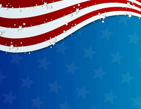 pattic fourth of july background  Stock Photo - 8785826