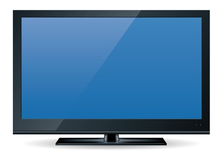 screen tv: high definition (HD) television set in black