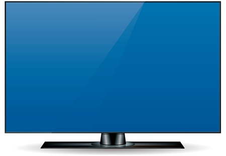 edgeless, ultra thin, high definition (HD) television set in black Stock Photo - 12475221