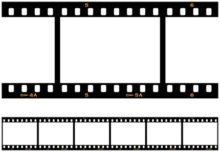 Six (6) numbered frames of a seamless repeating filmstrip.
