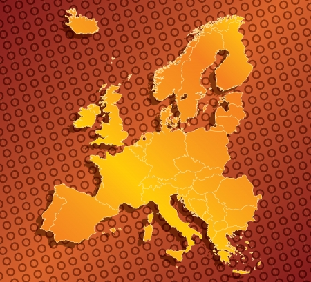 Abstract Europe EU map with country borders Stock Photo