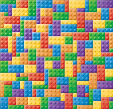 child s block: Seamless colored children's locking block puzzle Stock Photo