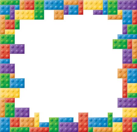 正方形フォーマットの色付きのブロック図枠 写真素材